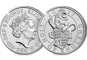Change Checker 5 Pound Coin Image Lion Of England 1