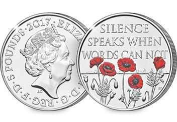 Change Checker 5 Pound Coin Image Remembrance Day 1