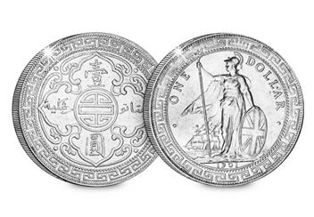 Hong Kong British Trade Dollar Obverse Reverse