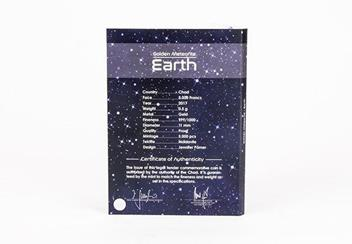 2017 Earth Tektite Gold Proof Coin Pack Back