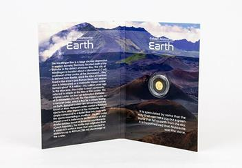 2017 Earth Tektite Gold Proof Coin Pack Inside