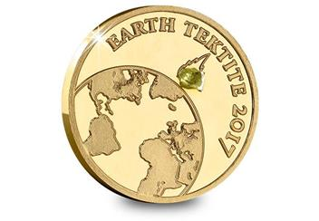2017 Earth Tektite Gold Proof Coin Reverse
