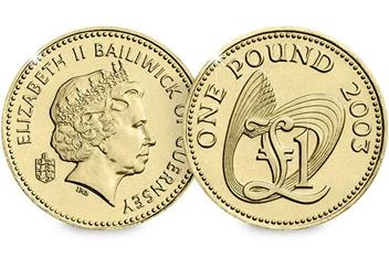 Guernsey-2003-CuNi-One-Pound-Coin-Obverse-Reverse