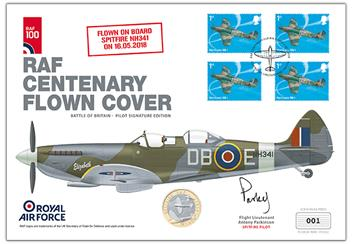 Raf 100 Uk Flown Coin Cover