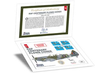 Raf 100 Uk Flown Coin Folder