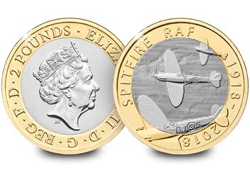 Raf 100 Uk Flown Coin Obverse Reverse