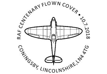 Raf 100 Uk Flown Coin Postmark