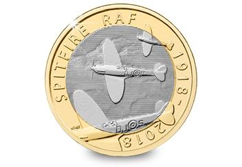 Raf 100 Uk Flown Coin Reverse