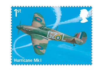 Raf 100 Uk Flown Coin Stamp
