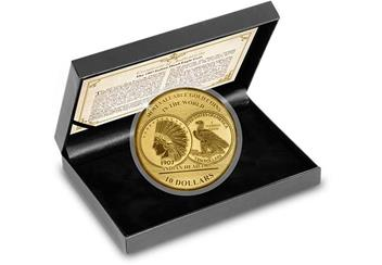 2017 Most Valuable Coins If The World Us Indian Head Gold Proof Coin In Display Case (1)