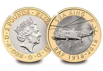 Dn 2018 Cc Raf 2 Coins Seaking Vulcan Badge Spitfire Lightening Collector Pack Mock Up Product Images2