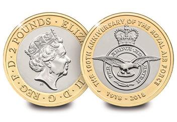 Dn 2018 Cc Raf 2 Coins Seaking Vulcan Badge Spitfire Lightening Collector Pack Mock Up Product Images4