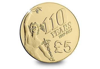 Iom 2018 Isle Of Man Tt Five Pound Coin Reverse