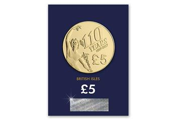 Iom 2018 Isle Of Man Tt Five Pound Coin Reverse In Pack