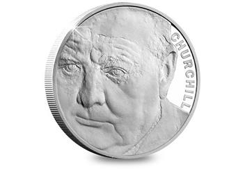 Uk 2015 Churchill Silver Proof Five Pound Coin Reverse