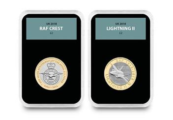 Raf Centenary Ultimate Box Set Commemorative Stamp And Coin Set Crest And Lightning