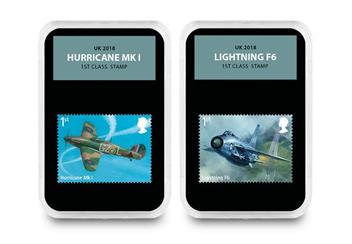 Raf Centenary Ultimate Box Set Commemorative Stamp And Coin Set Hurricane And Lightning
