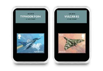 Raf Centenary Ultimate Box Set Commemorative Stamp And Coin Set Typhoon And Vulcan