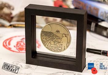 Rbl 2018 Bravoo 22 Armistice Antique Medal In Display Case Lifestyle