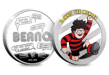 Dn Beano 80Th Silver Plated Medal Collection Dennis Product Images