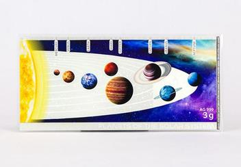 Planets Of The Solar System Planets Earth Silver Banknote Back