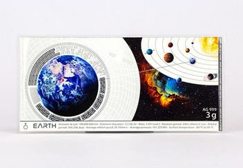 Planets Of The Solar System Planets Earth Silver Banknote Front