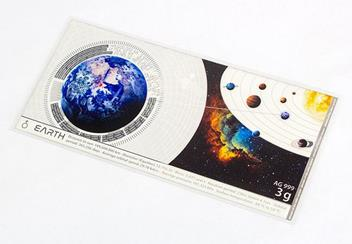 Planets Of The Solar System Planets Earth Silver Banknote Front2