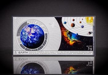 Planets Of The Solar System Planets Earth Silver Banknote Lifestyle2