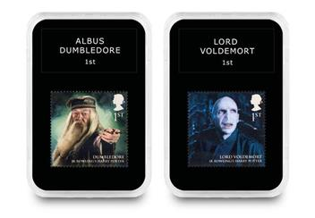 2018 Harry Potter Stamp Collection Boxed Edition Voldemort And Dumbledore