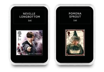 2018 Harry Potter Stamp Collection Boxed Edition Neville And Sprout