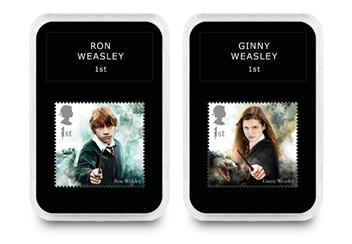 2018 Harry Potter Stamp Collection Boxed Edition Ron And Ginny