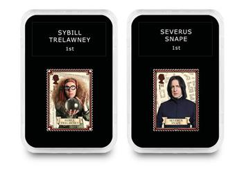 2018 Harry Potter Stamp Collection Boxed Edition Trelawney And Snape