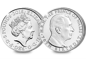 70th-Birthday-of-the-Prince-of-Wales-2018-UK-£5-BU-obverse-reverse-2