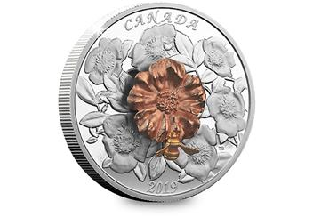 2018 Royal Canadian Mint Bee And Bloom Coin Reverse