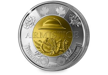 At Change Checker Canada Armistice 2 Dollar 2018 Reverse 1