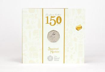 Uk 2016 Beatrix Potter Cuni Bu 50P Coins In Royal Mint Packs Squirrel Nu