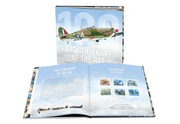 Centenary Of The Raf Book Front And Open Book