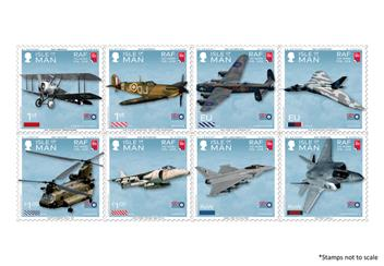 Centenary Of The Raf Isle Of Man Plane Stamps
