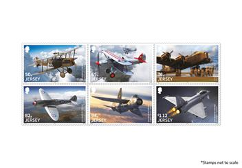 Centenary Of The Raf Jersey Stamps