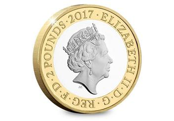 Uk 2017 Wwi Aviation Cuni Proof Two Pound Coin Obverse