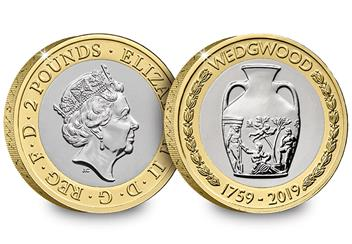 2019 Certified Bu Wedgewood 2 Pound Coin Product Images Obverse Reverse