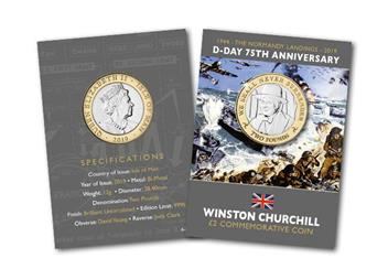 D Day 75Th Churchill Cuni Bu Two Pound Coin In Pack