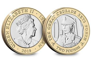 D Day 75Th Leaders Iom Cuni Bu Two Pounds Three Coin Set George Vi