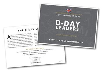 D Day 75Th Leaders Iom Silver Proof Two Pounds Three Coin Set Certificate