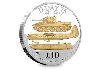 D Day 75Th Guernsey Silver Proof 5Oz Coin Reverse