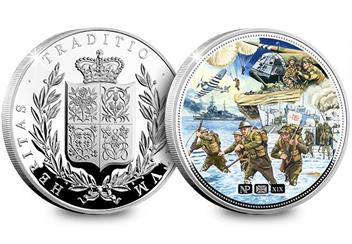 Numisproof D Day 75Th 2Oz Silver Proof Commemorative Obverse Reverse