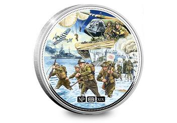 Numisproof D Day 75Th 2Oz Silver Proof Commemorative Reverse