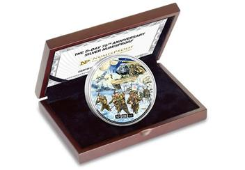 Numisproof D Day 75Th 2Oz Silver Proof Commemorative In Display Case