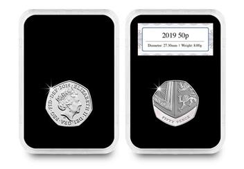 50Th Anniversary Of The 50P Coin Pair 2019 In Capsule