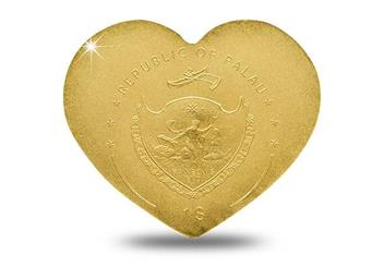 Heart Shaped Little Treasure Gold Coin Obverse